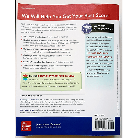 Libro McGraw-Hill Education SAT Elite 2021 - Image 2
