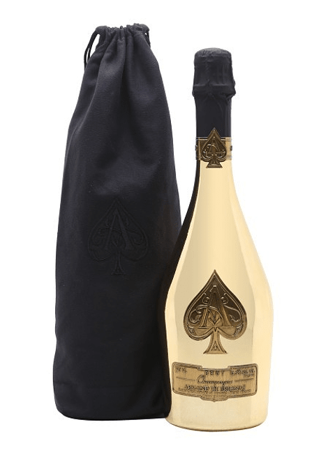 Armand de Brignac Ace of Spades Gold c/ velvet bag 0,75l