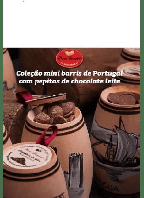 Mini barris com pipetas de chocolate
