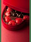 Caixa Prestige Coração - pralinés com ouro - 15 bombons