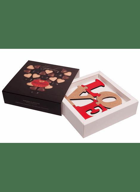 Caixa Bombons Chocolove – oferta puzzle LOVE