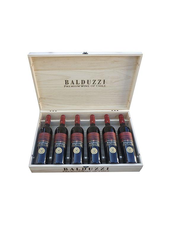 Baúl Madera 6 botellas