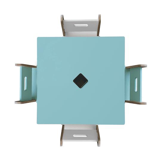 Mesa Bal GreenBlue + 4 Sillas Gapra - Image 4