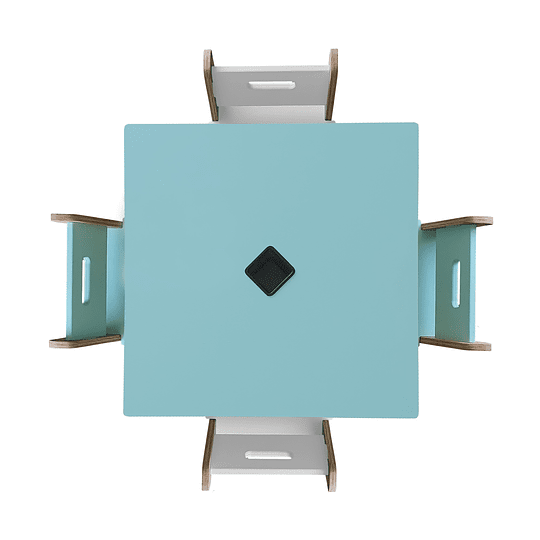 Mesa Bal GreenBlue + 4 Sillas Gapra - Image 5
