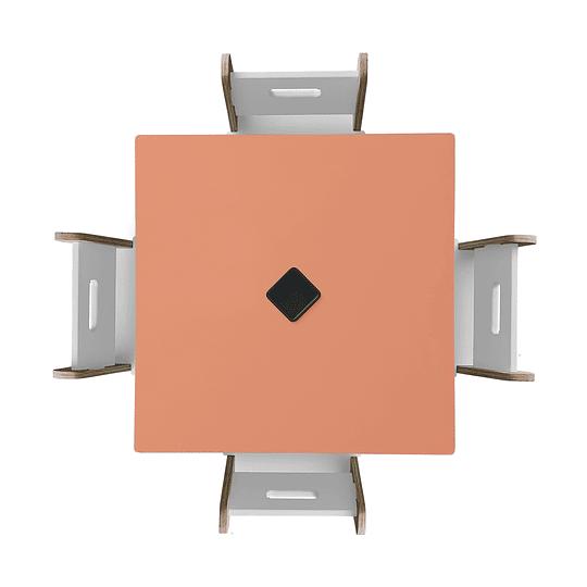 Mesa Bal PinkOrange + 4 Sillas Gapra - Image 2