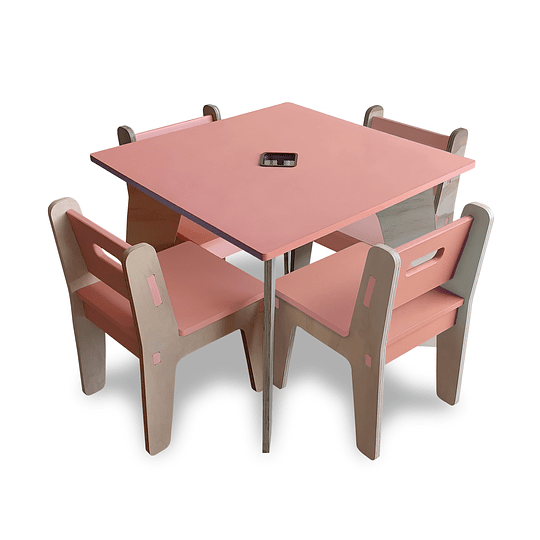 Mesa Bal PinkOrange + 4 Sillas Gapra - Image 3