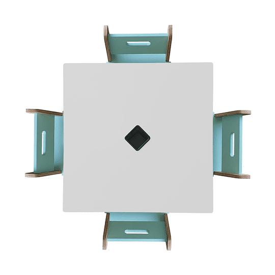Mesa Bal White + 4 Sillas Gapra - Image 4