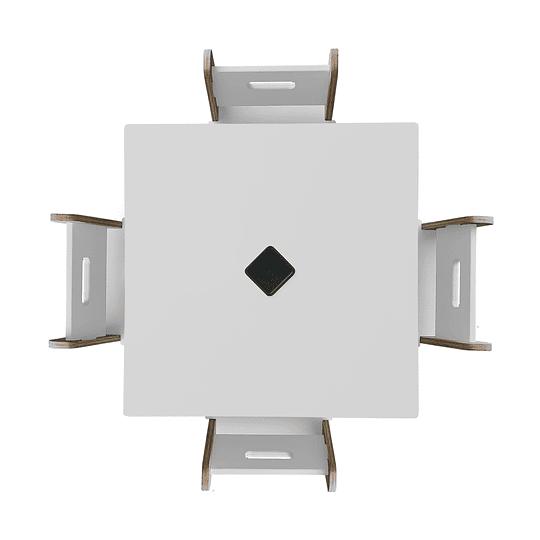 Mesa Bal White + 4 Sillas Gapra - Image 2