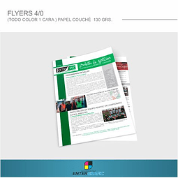 1.000 flyers Papel Couché