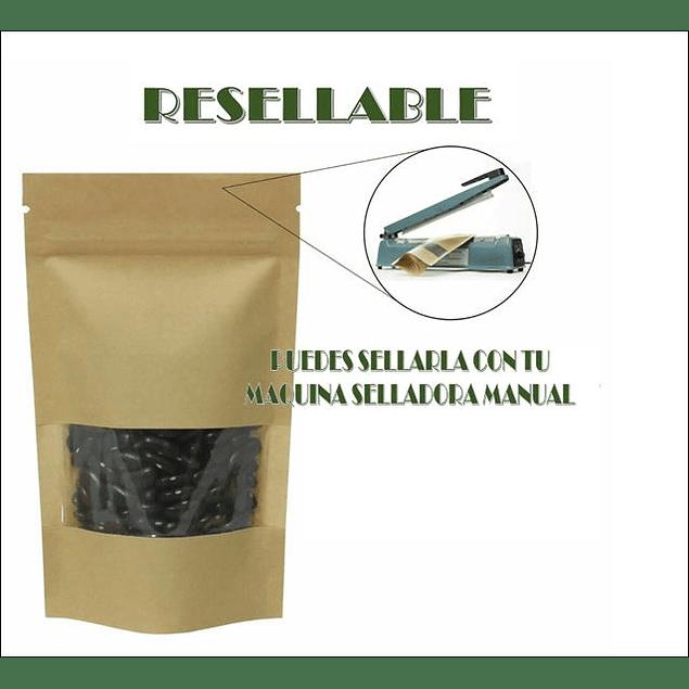 Pack de 50 Envases Doypack 16*22 Hasta 500 Gramos