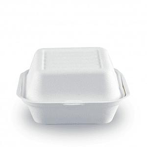 Pack de 50 Envases Sandwiche / Hamburguesa Compostables