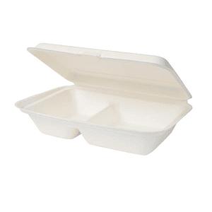 Pack de 50 Envases Almuerzo con división compostables