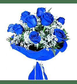 Ramo de 12 Rosas Azules