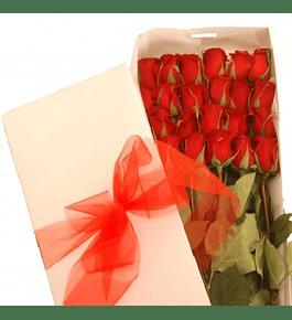 Caja 24 Rosas Ecuatorianas