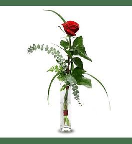 Rosa Individual en Florero