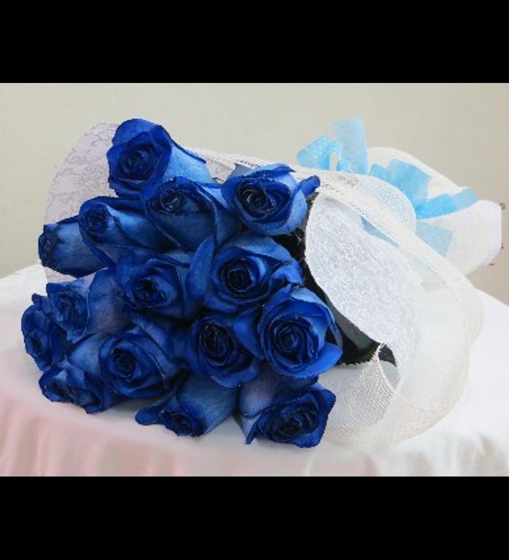 Ramo de 15 Rosas Azules