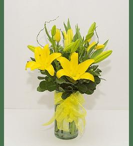 Florero de Tulipanes y Liliums
