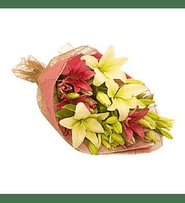 Ramo de Liliums en dos Tonos