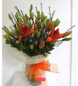 Florero de Liliums
