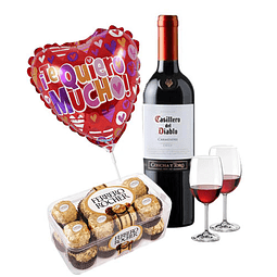 Set Vino y Chocolates