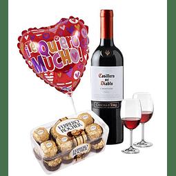 Set Vino y Chocolates