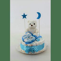 Torta de Pañales con Peluche