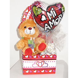 Set Peluche, globo y chocolates
