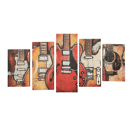 Canvas decorativo guitarras SG 5pcs
