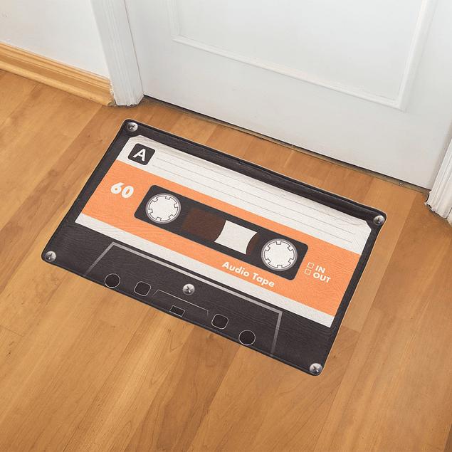 Alfombra Limpiapies con Diseño Audio tape