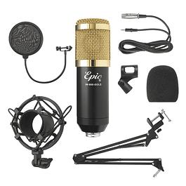 Micrófono Estudio Condensador Profesional Epic 800