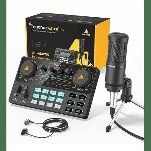 Am200-s1 Kit De Consolas De Audio Micrófono Con Auricular