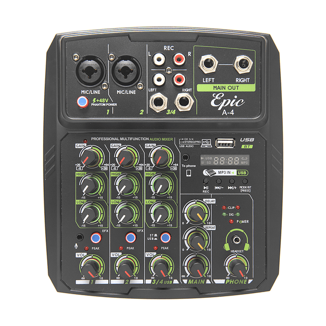 Mini Mixer 4 Canales Mini Mixing Console