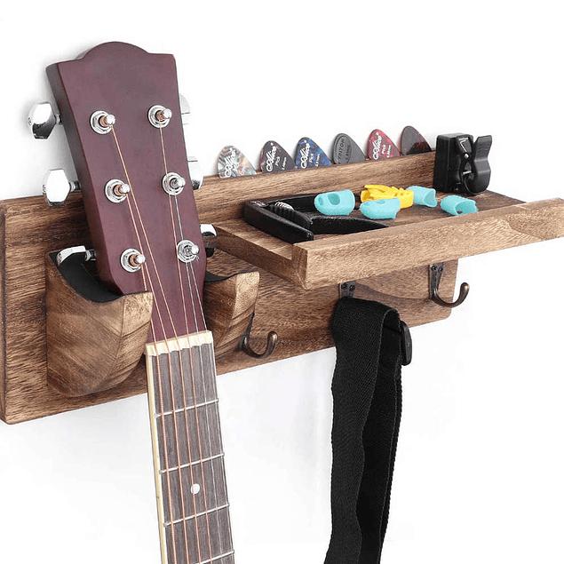 Soporte Colgador Madera Para Guitarra