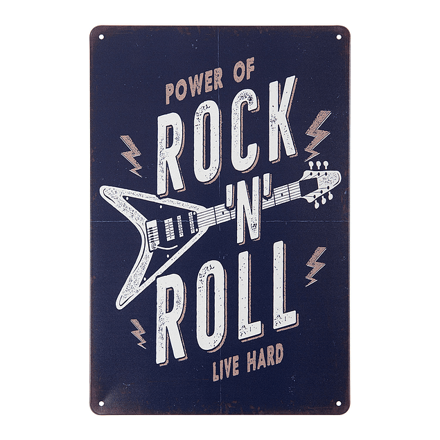 Cuadro Metálico Vintage ROCK N ROLL