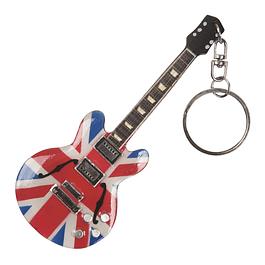 Llavero de guitarra en miniatura de madera UK
