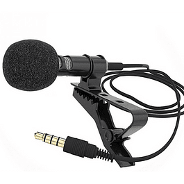 Micrófono Condensador Solapa Para Celulares Tipo Jack 3.5mm