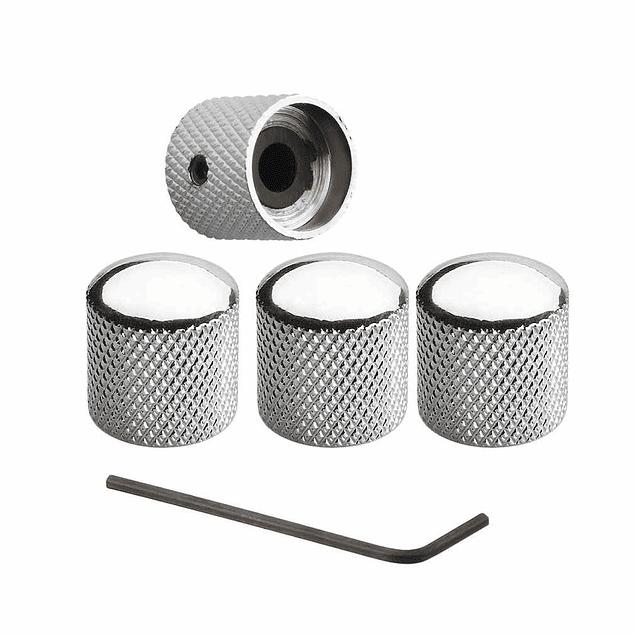 Perilla (knobs) Metalica Ajustable Cromada (Pack 2)