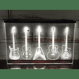 Letrero Neón 5 Guitarras