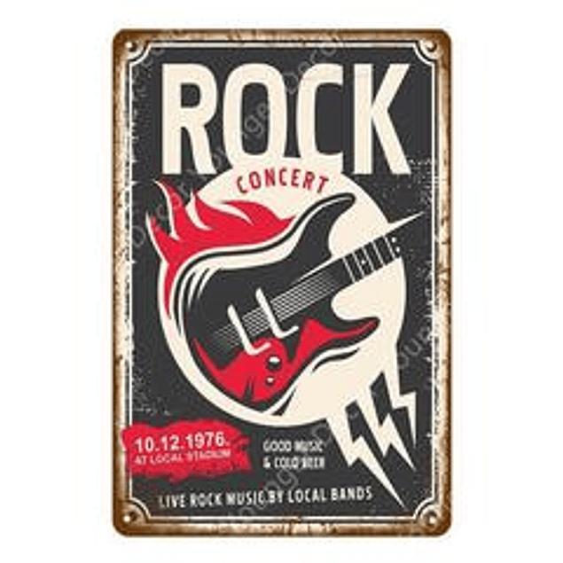 Cuadro Metálico Vintage Rock Concert
