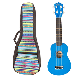 Pack Ukelele Soprano Azul con Funda