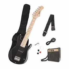 Guitarra niño eléctrica Negro + amplificador