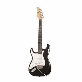 Pack Guitarra Eléctrica Zurdo Negro