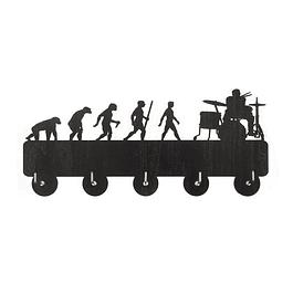 Perchero Colgador Evolución Baterista