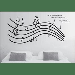 Vinilo Sticker Decorativo Nota Musical