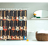 Cortinas Decorativas Baño Guitarras