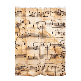 Cortinas Decorativas Baño Notas Musicales