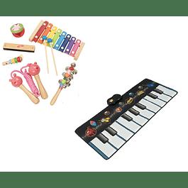 Set piano alfombra con instrumentos