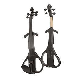 Violin Eléctrico 4/4 Negro con Case y Audífonos