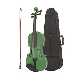 Violin 4/4 Verde con estuche y Acc.