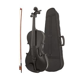 Violin 4/4 Negro con estuche y Acc.